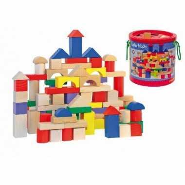 Houten bouwblokken ton 1 stuks jaar